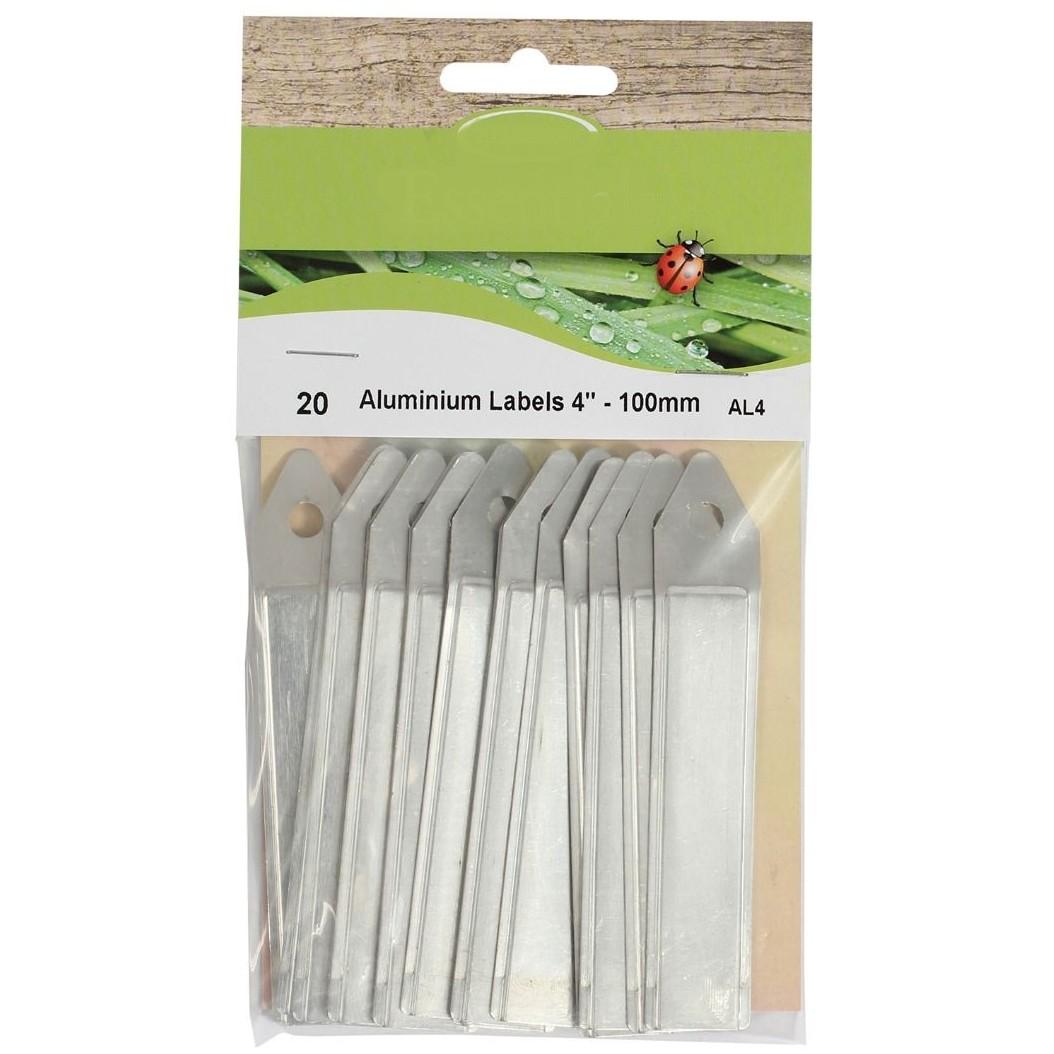 Aluminium labels 10 cm