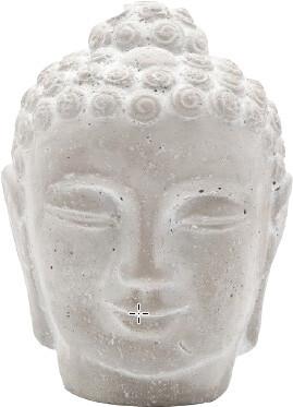 Boeddhahoofd uit cement 16 x 16 x 215 cm