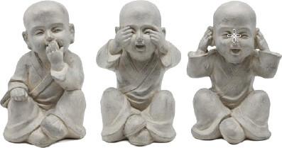 Monniken horen zien en zwijgen Fiberclay