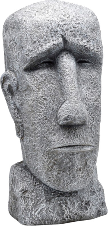 Moai beeld Polystone 32 x 28 x 59 cm