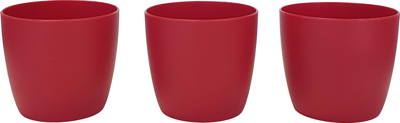 Set bloempot Ella 7 cm mat rood