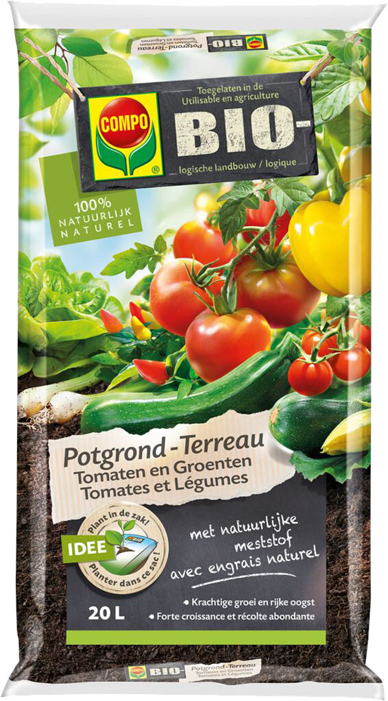 Potgrond tomaten en groenten bio 20 l
