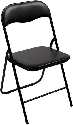 Inklapbare stoel zwart