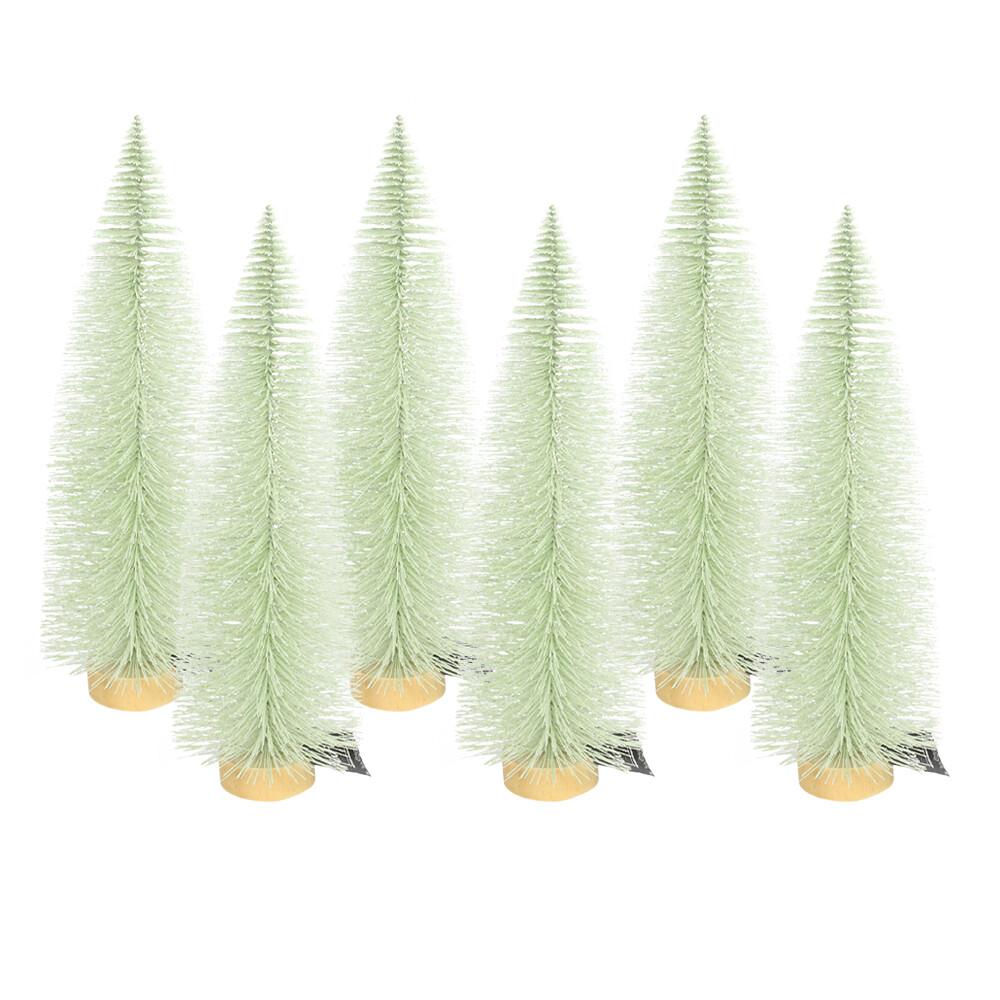 Dennenboom lichtgroen glitter 20 cm