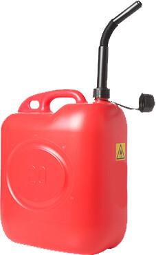 Jerrycan brandstof rood 20 liter