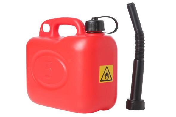 Jerrycan brandstof rood 5 liter