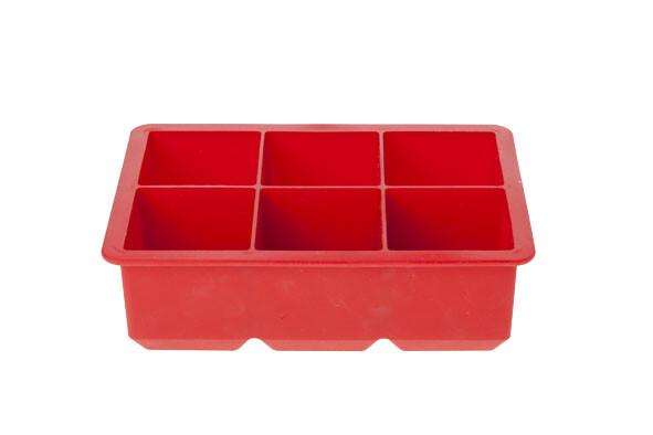 Ijsblokhouder kubus rood