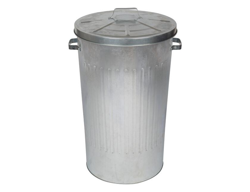 Metalen afvalemmer 90 liter