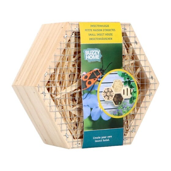 Insectenhotel hexagon 13 x 15 x 6 cm