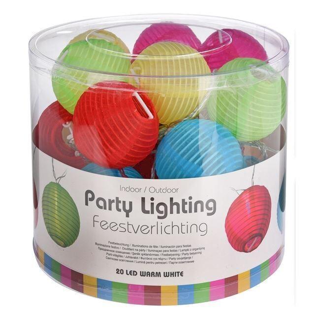 Feestverlichting 20 ledlampen 5 kleuren
