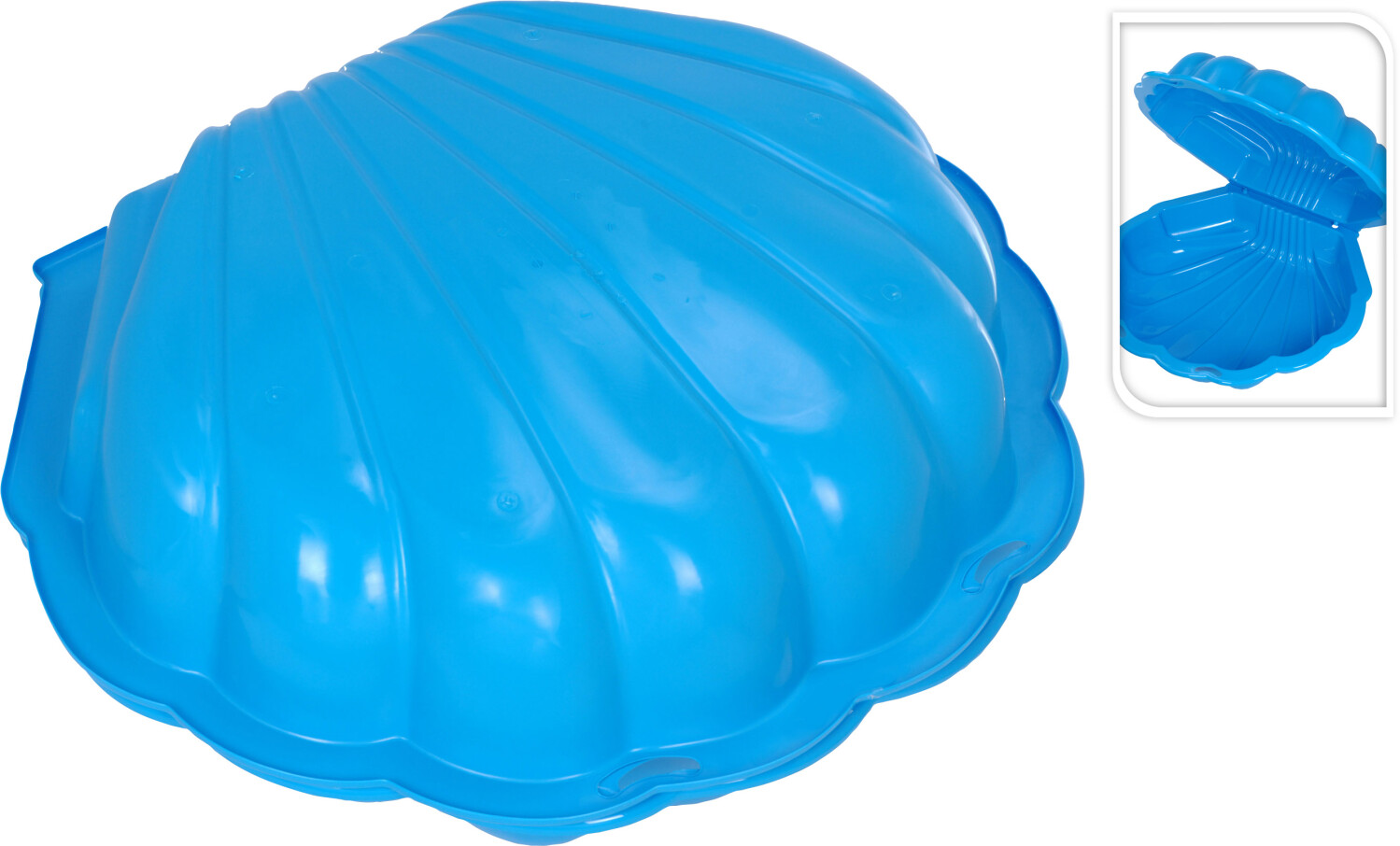Zandbak schelp blauw 2 delig