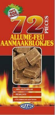 Aanmaakblokjes voor barbecue en houthaarden