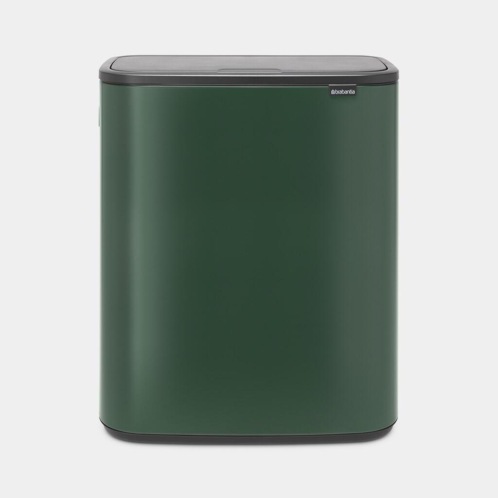 Afvalemmer Bo Touch Bin BRABANTIA 60 liter dennengroen