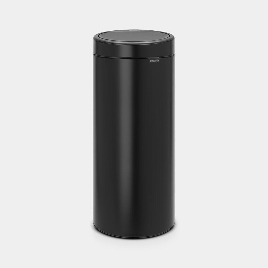 Afvalemmer Touch Bin BRABANTIA 30 liter mat zwart