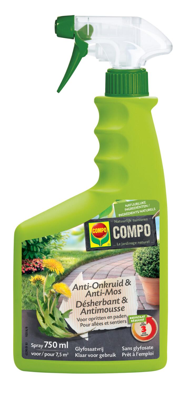 Onkruidbestrijder antionkruidmos opritten en paden spray 750 ml