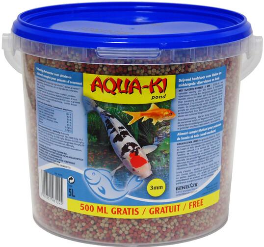 AQUAKI vijverviskorrels BLAUW 3 mm 55 liter