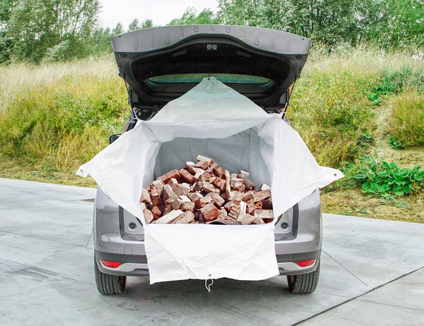 Autokoffer afvalzak universeel 1100 liter