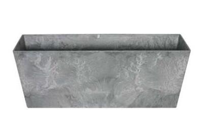 Balkonbak Artstone Ella grijs 37 x 17 x 17 cm