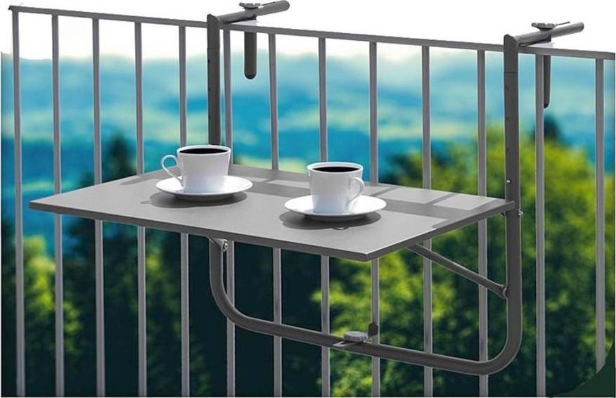 Balkontafel hangend grijs60 x 40 cm