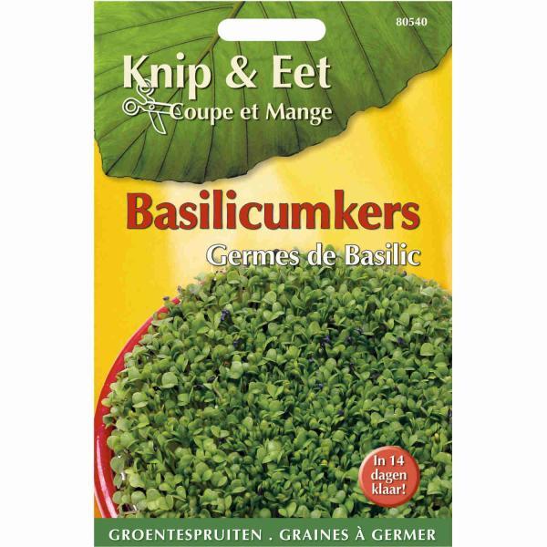 BasilicumkersKnip en eet