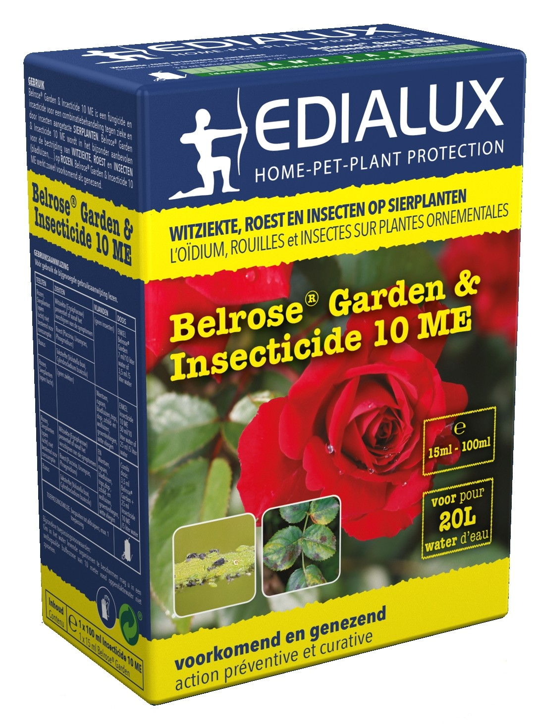 Tegen ziekten en insecten op rozen Belrose