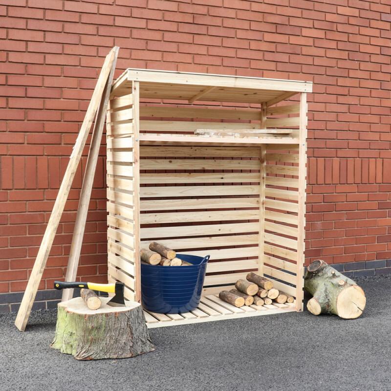 Berging brandhout Woody 117 cm x 52 cm x 156 cm