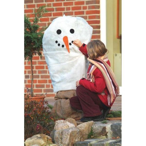 Vorst beschermhoes sneeuwman130 x 150 cm