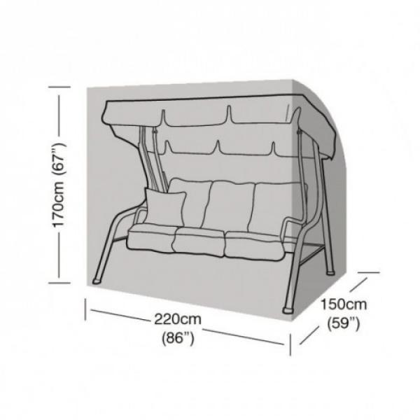 Hoes voor schommelbank driezit 220 x 150 x 170 cm