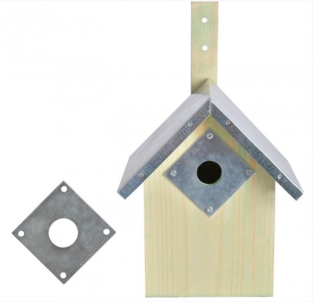Afbeelding Best For Birds Beschermplaat Pimpelmees - Broeden - 0.037 g Zilver per stuk