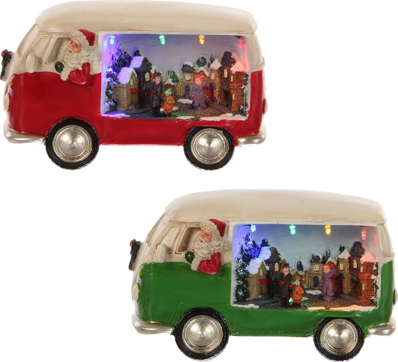Bestelwagen met kersttafereel