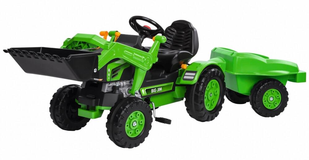BIG Jim tractor met laadschop en trailer