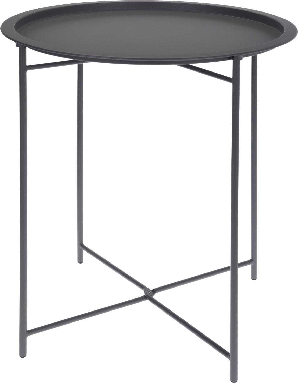 Vouwtafelbijzettafel grijs 46 cm x 52 cm