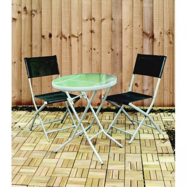 Bistroset tafel met 2 stoelen