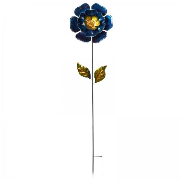 Blauwe bloemdeco tuinprikker