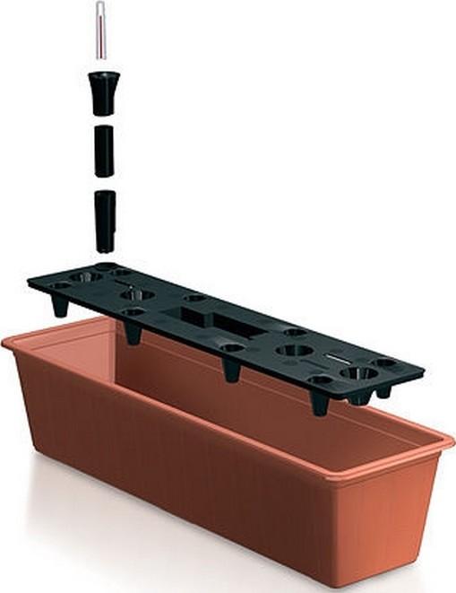 Bloembak met bewateringssysteem terracotta 11L