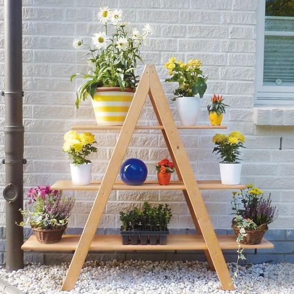 Bloemenrek driehoek MAXIgrenenhout