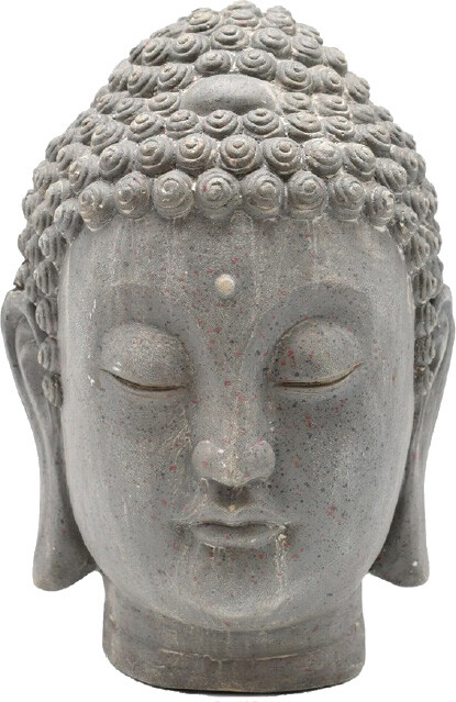 Boeddha hoofd antiek cement 235 x 225 x 34 cm