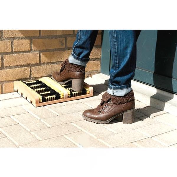 Borstelmat voor laarzen en schoenen