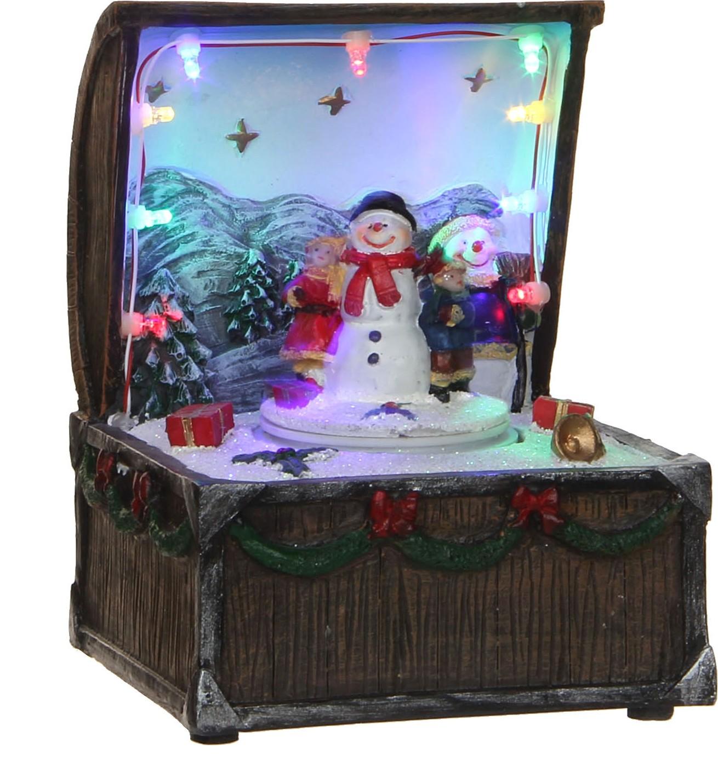 Schatkist met kersttafereel