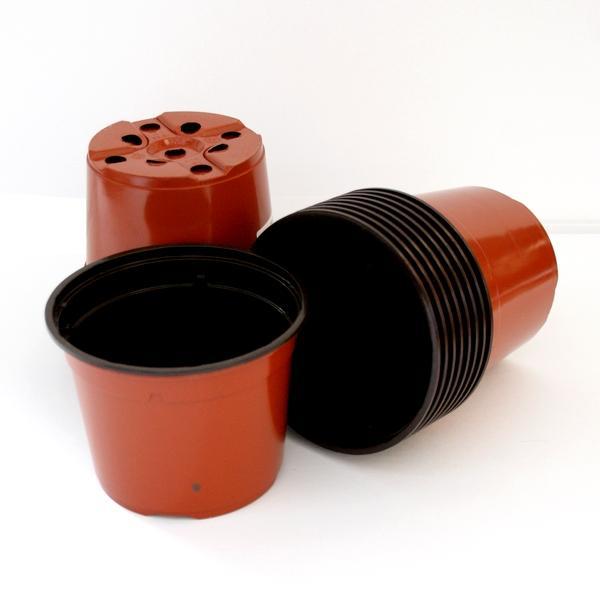 Bruine potten van 13 cm