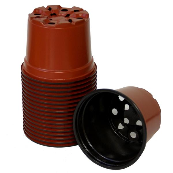 Bruine ronde 9 cm potten
