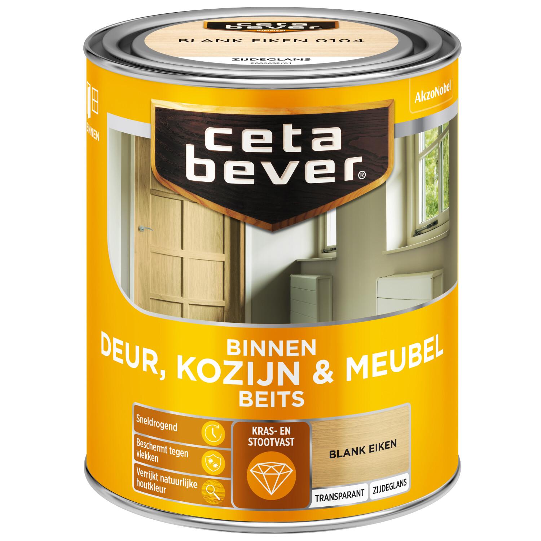 Cetabever Binnenbeits Deur Kozijn Meubel transparant zijdeglans blank eiken 750 ml