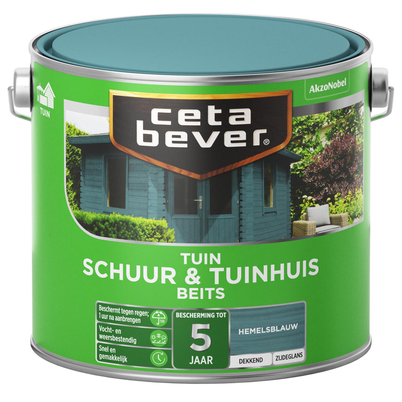 Cetabever Tuinbeits Schuur Tuinhuis dekkend hemelsblauw 25 l