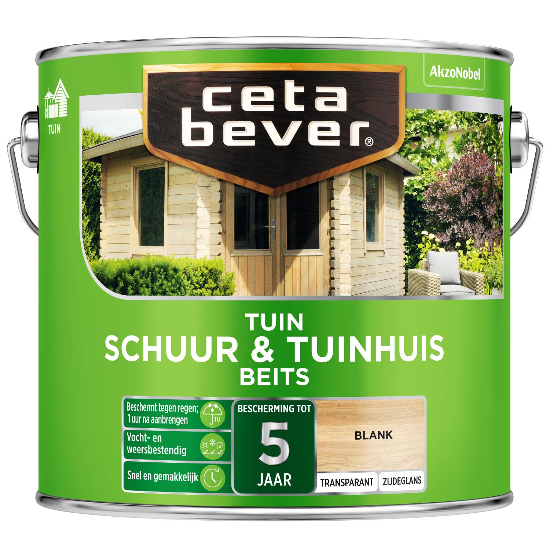 Cetabever Tuinbeits Schuur Tuinhuis transparant blank 25 l