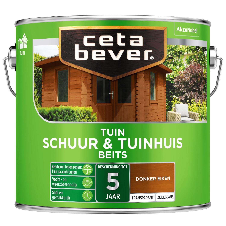 Cetabever Tuinbeits Schuur Tuinhuis transparant donker eiken 25 l