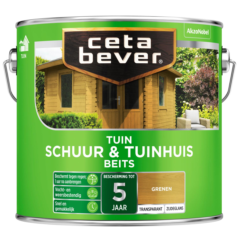 Cetabever Tuinbeits Schuur Tuinhuis transparant grenen 25 l