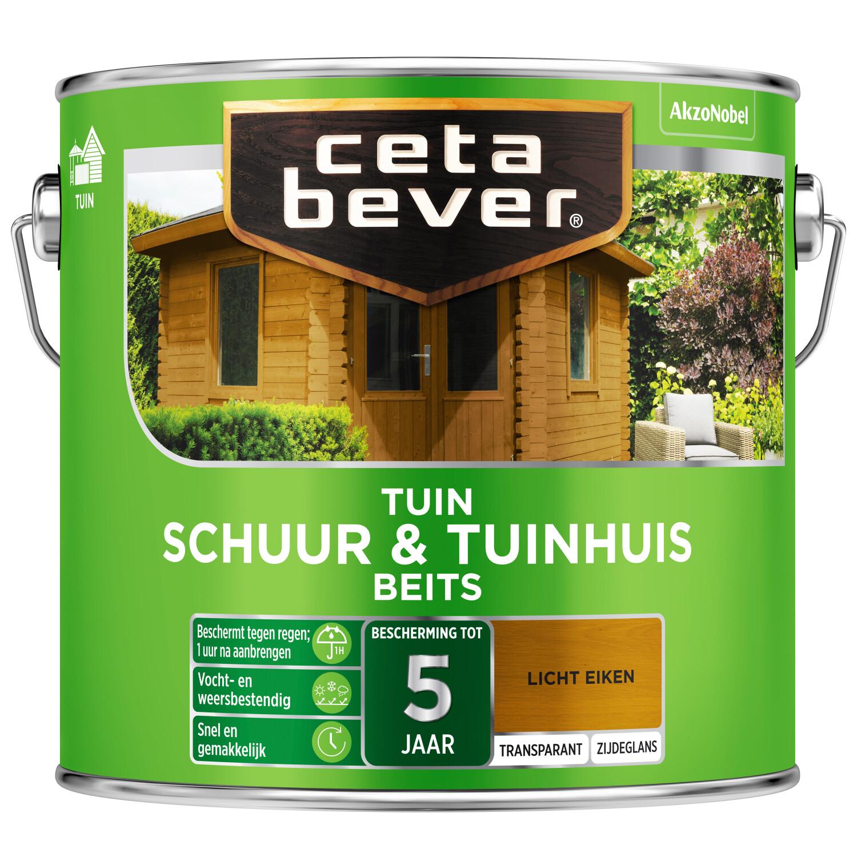 Cetabever Tuinbeits Schuur Tuinhuis transparant licht eiken 25 l