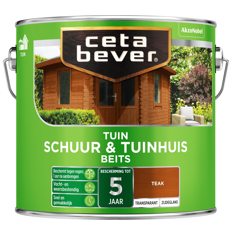 Cetabever Tuinbeits Schuur Tuinhuis transparant teak 25 l
