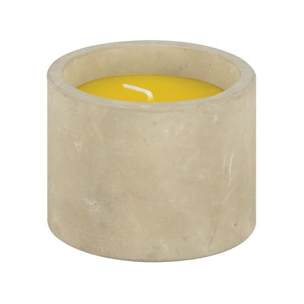 Citronellakaars in stenen houder
