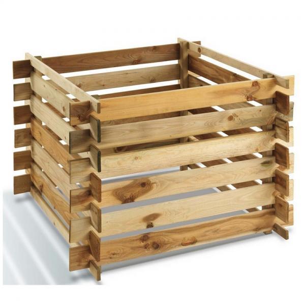 Compostbak grenenhout 100 x 100 x 70 cm
